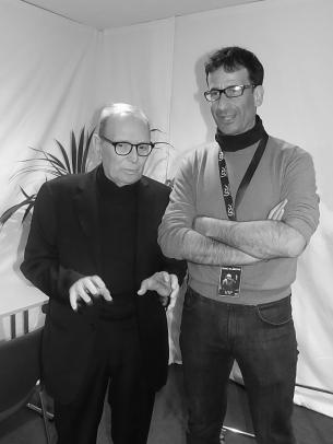 M° Ennio Morricone con il M° Andrea Albertini
